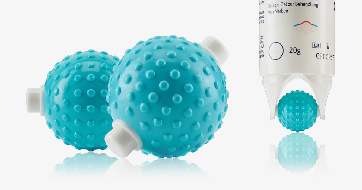 Massageball für Bepanthen Narbengel